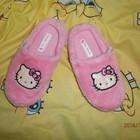 Новые очаровательные тапики с Hello Kitty 19,5 см стелька
