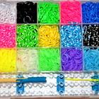 Резинки для плетения браслетов RAINBOW LOOM BANDS 5500шт