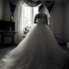Шикарное Свадебное плате со шлейфом