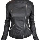 Женская куртка косуха,кожаная куртка на осень - весну