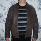Leonardo (XL) кожаная куртка от знаменитого бренда