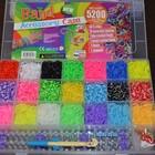 Резиночки для плетения браслетов RAINBOW LOOM BANDS 5200шт+станок