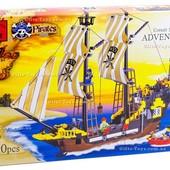 Конструктор Brick 307 пиратский корабль! 590 деталей!