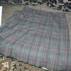 Юбка теплая в клеточку шотландка 52 54р на ОБ 114  117см