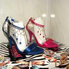 Элитные модные  босоножки Премиум-класса  цвет-малина, 36