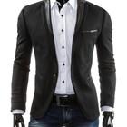 Пиджак мужской,черний мужской приталенний пиджак