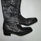 Черные кожаные сапоги Германия р 39
