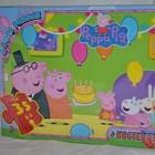 пазлы картонные 70 элементов А4 свинка пеппа Peppa Pig + постер День рождения
