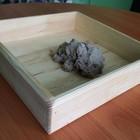 Песочница настольная из натурального дерева для кинетического песка