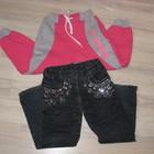 Брюки джинсы утеплённые на флисе для девочки 4-6 лет