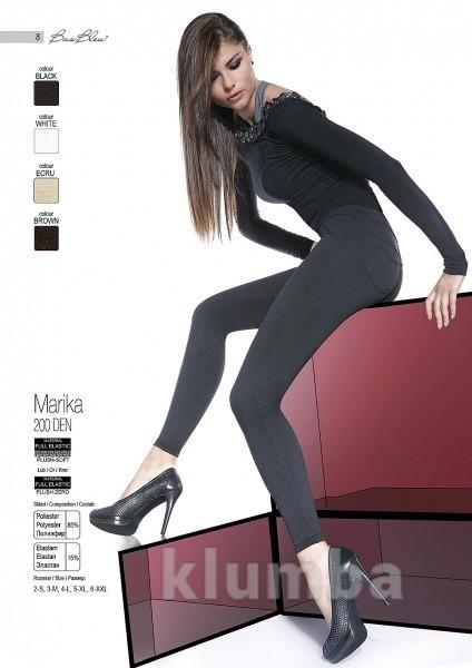 Леггинсы черного цвета утепленные marika bas bleu фото №1