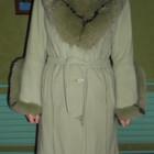 Кашемировое пальто с натуральным мехом