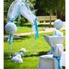 Выездная церемония бракосочетания. В прокат арка, искусственные цветы.