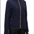 Стеганная женская куртка синяя