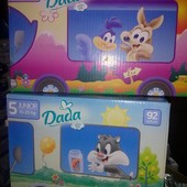 Подгузники детские Dada Premium Extra Soft комфорт фіт Мегапак коробка