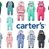 Разм.9м,12м,18м,24м. Поддева флис (ромпер) Carter's. В наличии!