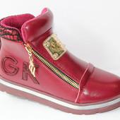 Модные детские / подростковые демисезонные ботинки для девочек, р. 31-36, код товара - 102