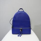 Кожаный перфорированный рюкзак Michael Kors electric blue оригинал