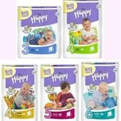 Подгузники Happy Памперсы Хеппи новые упаковки Польша 3, 4 ,4+,5, 6