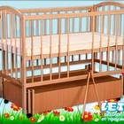 """Кроватка детская """"Малютка с поперечным маятником + закрытый ящик"""""""