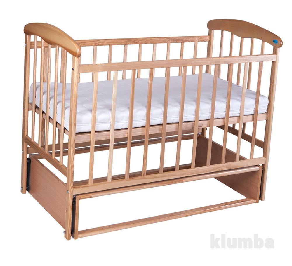Кроватка детская Наталка с маятником светлая фото №1