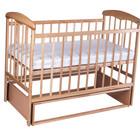 Кроватка детская Наталка с маятником светлая