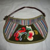 Детская коттонавая сумочка с аппликацией