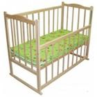 Кроватка детская КФ - Опускание, качалка, колёсики, фигурная спинка