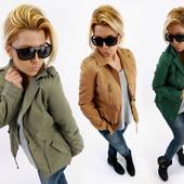 Парка женская весенняя, легкая куртка котоновая