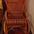 Плетённое кресло качалка в отличном состоянии за приятную цену