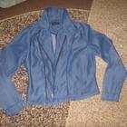 Крутой джинсовый пиджачок,размер  UK(10),Denim,одет 1 раз.