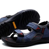 Сандалии Ecco Receptor technology, р. 40-45, натур. кожа, синий, черный, последняя распродажа!