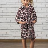 Махровый детский халат на молнии 01307 (5 цветов)