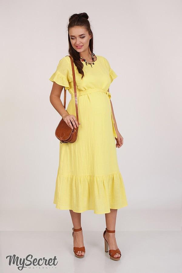 53c55797c8d0273 Летнее платье для беременных и кормления zanzibar (желтый), цена ...