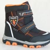Сноубутсы Том.м (46А) черный-оранж.fashion