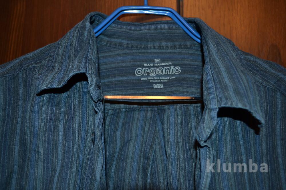 Рубашка  Marks & Spencer , лен размер 41-43 фото №1