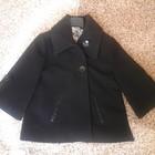 Красиве чорне пальто,розмір s
