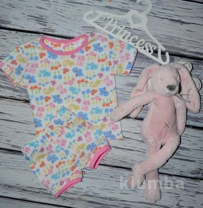 1 - 2 года 92 - 98 см Фирменная отличная натуральная пижама пижамка с кошками фото №1