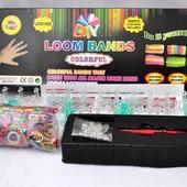 Набор Rainbow loom для плетения браслетов на 600 резиночек