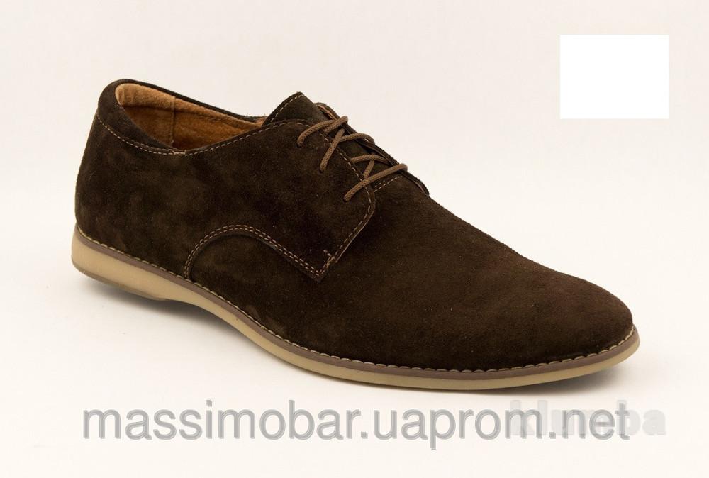 Мужские классические туфли 3 цвета кожа,замша фото №1