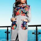 Пальто кашемировое с цветочными вставками
