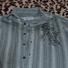 Рубашка с рисунком и стразами