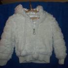 продам курточку весна-осень меховую с капюшоном, утепленную на девочку р.98-116 Б/