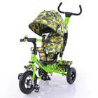Тилли Трайк Камуфляж T-351-8 детский трехколесный велосипед Tilly  на надувных колесах