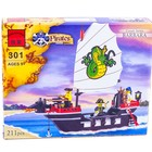 Конструктор 301 Пиратский корабль, пиратов, Brick, аналог Лего, Брик