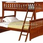 Двухъярусная кровать Жасмин цвет орех с ящиками. В наличии.