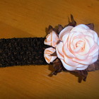 повязочка роза ,шоколад
