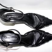 Туфли босоножки- лодочки George Бразилия 37,5-38р Кожа