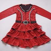 6-8 лет Нарядное платье, б/у. В хорошем состоянии.