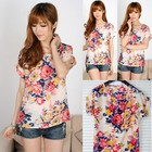 Блузка Цветочный  Принт 2 цвета